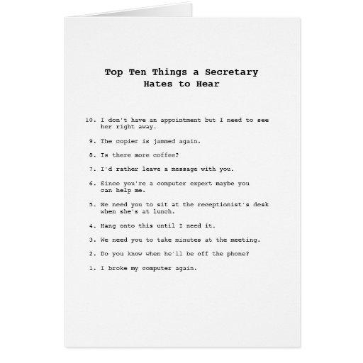 Top Ten Things card