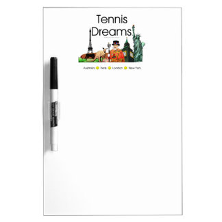 TOP Tennis Dreams Dry-Erase Board