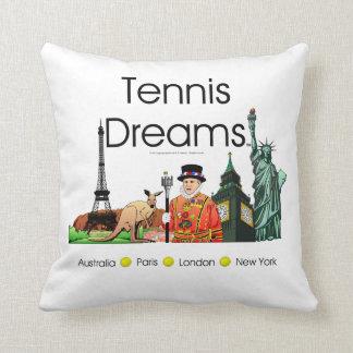 TOP Tennis Dreams Throw Pillow