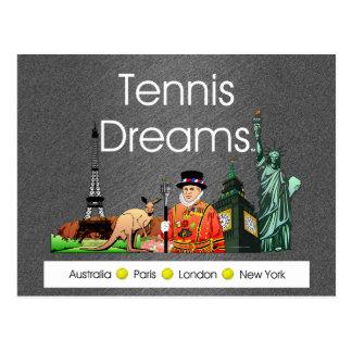 TOP Tennis Dreams Post Cards