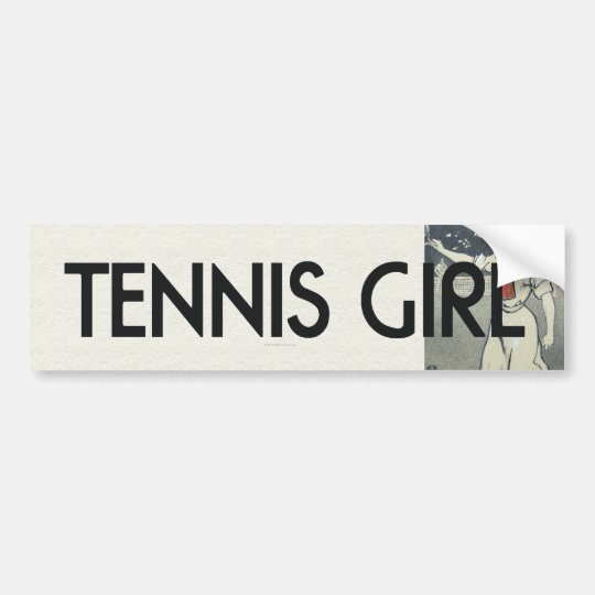 TOP Tennis Girl Bumper Sticker