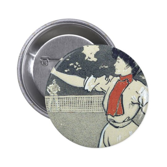 TOP Tennis Girl Button
