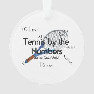 TOP Tennis Numbers Ornament