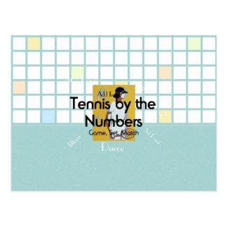 TOP Tennis Numbers Postcard