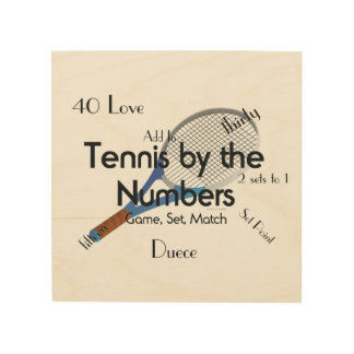 TOP Tennis Numbers Wood Wall Decor