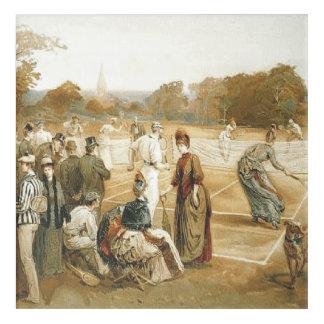 TOP Tennis Old School Acrylic Print