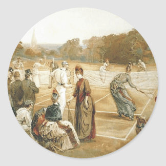 TOP Tennis Old School Classic Round Sticker
