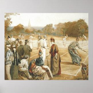 TOP Tennis Old School Poster