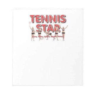 TOP Tennis Star Notepad