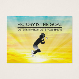 TOP Tennis Victory Slogan Business Card