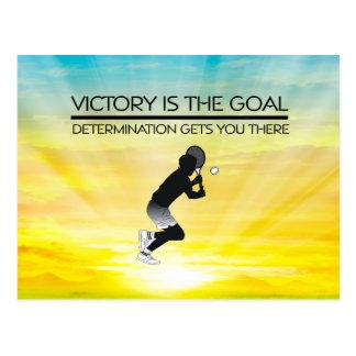 TOP Tennis Victory Slogan Postcard