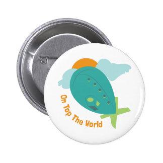 Top The World 2 Inch Round Button