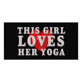 TOP This Girl Loves Yoga Card