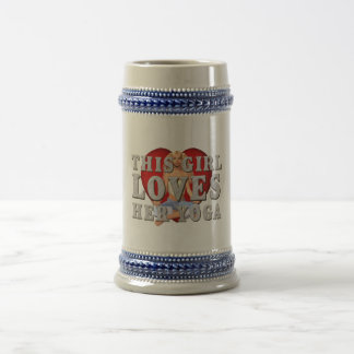 TOP This Girl Loves Yoga 18 Oz Beer Stein
