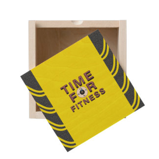 TOP Time for Fitness Wooden Keepsake Box