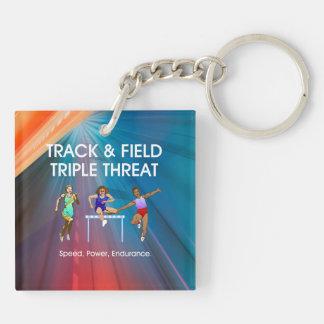 TOP Track & Field Triple Keychain