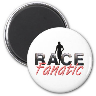 TOP Track Race Fanatic 2 Inch Round Magnet