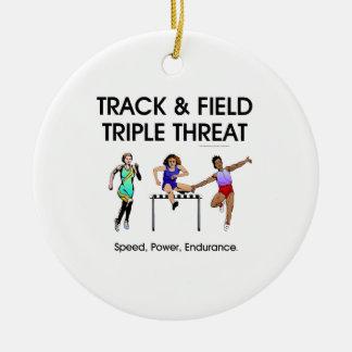 TOP Track Triple Ceramic Ornament