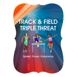 TOP Track Triple Personalized Invitation