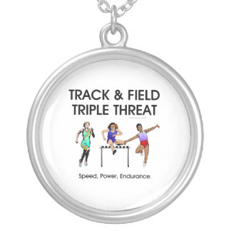 TOP Track Triple Silver Plated Necklace