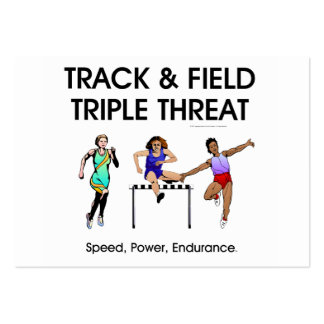 TOP Track Triple Threat Large Business Cards (Pack Of 100)