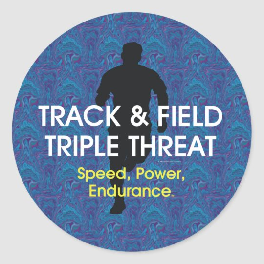 TOP Track Triple Threat Classic Round Sticker