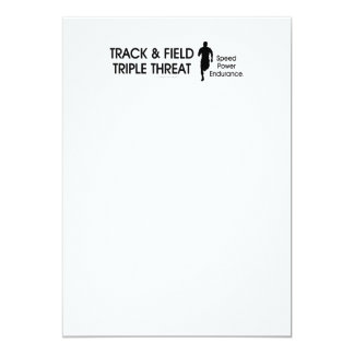 TOP Track Triple Threat Personalized Invitations