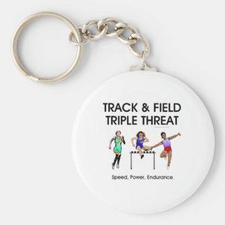 TOP Track Triple Threat Keychain