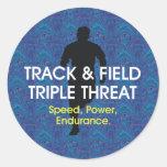 TOP Track Triple Threat Round Sticker