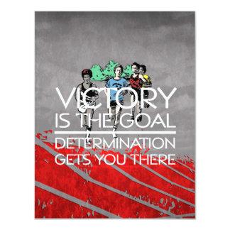 TOP Track Victory Slogan Card