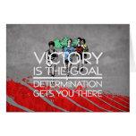 TOP Track Victory Slogan Greeting Card
