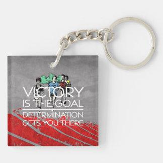 TOP Track Victory Slogan Keychain
