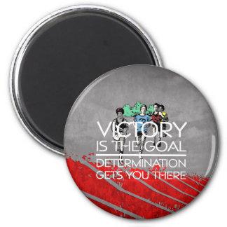 TOP Track Victory Slogan 2 Inch Round Magnet