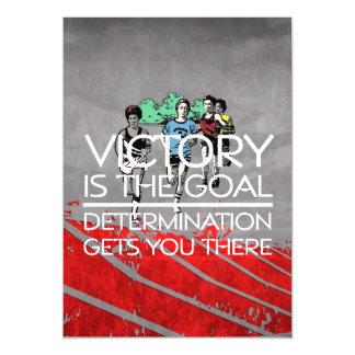TOP Track Victory Slogan Magnetic Invitations