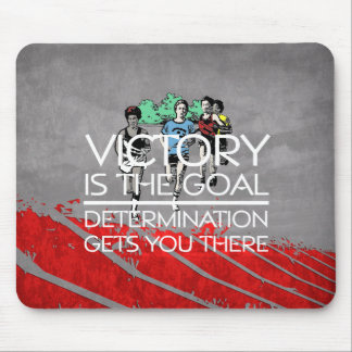 TOP Track Victory Slogan Mouse Pad