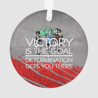 TOP Track Victory Slogan Ornament