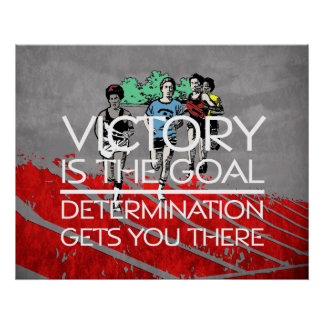 TOP Track Victory Slogan Poster