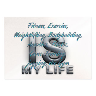 TOP Training Is My Life Large Business Cards (Pack Of 100)