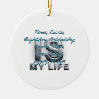 TOP Training Is My Life Double-Sided Ceramic Round Christmas Ornament