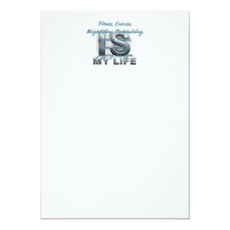 TOP Training is My Life 5x7 Paper Invitation Card