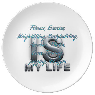 TOP Training is My Life Porcelain Plate