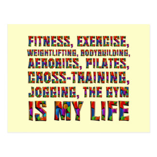 TOP Training Is My Life Postcard