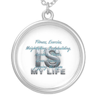 TOP Training Is My Life Silver Plated Necklace