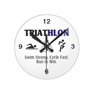 TOP Triathlon Round Wall Clocks