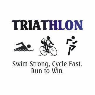 TOP Triathlon Standing Photo Sculpture