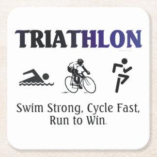 TOP Triathlon Square Paper Coaster