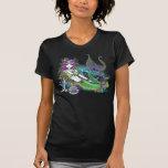 Top tropical del arte de la sirena del arco iris camiseta