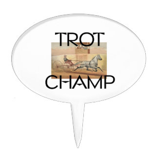 TOP Trot Champ Cake Topper
