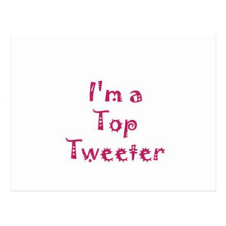 Top Tweeter Postcard