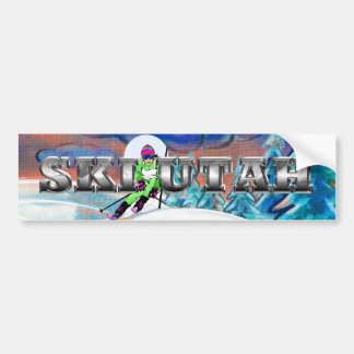 TOP Utah Skier Bumper Sticker